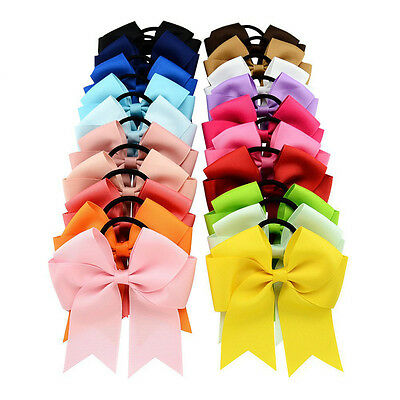 4.5 Inch Hair Bows Girls Cheer Bow Bowknot Grosgrain Ribbon Hair Bands
