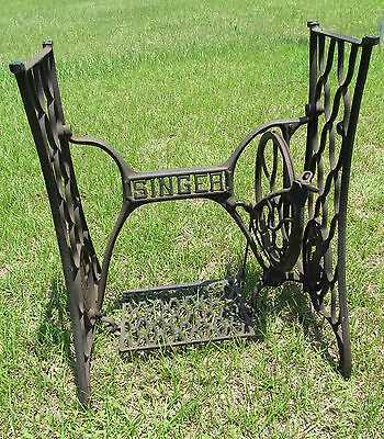Antique Singer Cast Iron Treadle Sewing Machine Stand Base