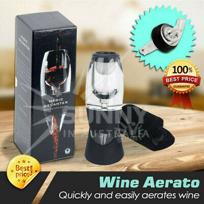 1x Decanter Essential RED Wine Aerator And 10x Liquor Bottle 30ml Measure Wine