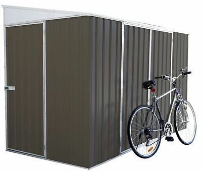Absco Eco-Nomy Storage Outdoor Bike Shed 3m x 1.52m x 1.95m Garden Sheds in GREY