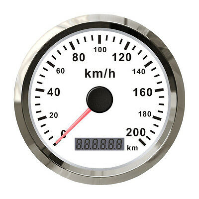 85mm GPS Speedometer Stainless Digital Sppedo Gauge 200KMH for 12V 24V Car Truck