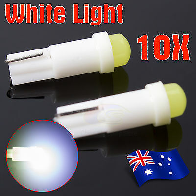 10X T5 Dash 5050 1-SMD LED Dashboard Instrument Light Car Wedge White Bulbs