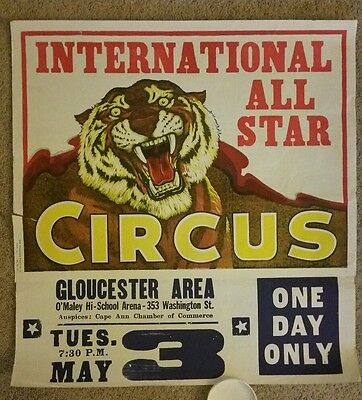 Antique International All Star Circus Poster