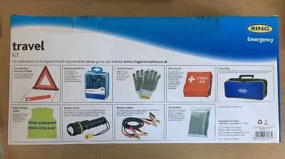 Ring Emergency Euro Europe Continental Driving Abroad Approved Travel Kit In Bag