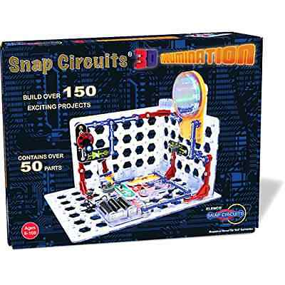 Snap Circuits 3D Illumination Electronic Discovery Kit Science Learning Toy Game
