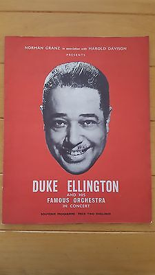 Duke Ellington Concert Programme 1958 Tour of Great Britain