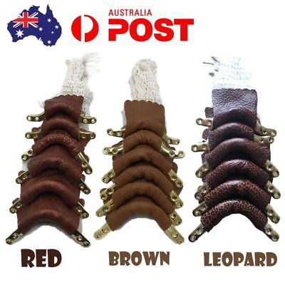 6 set of Leather Pool Snooker Billiard Table Replacement Pocket Nets Kit Brass