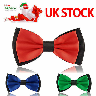 Fashion Mens Adjustable Polyester Wedding Xmas Prom Party Bow Tie - 15 Colours