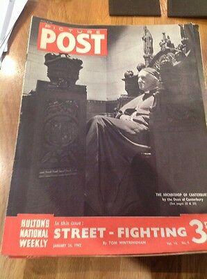 Picture Post Magazine - January 24th 1942 Archbishop Of Canterbury