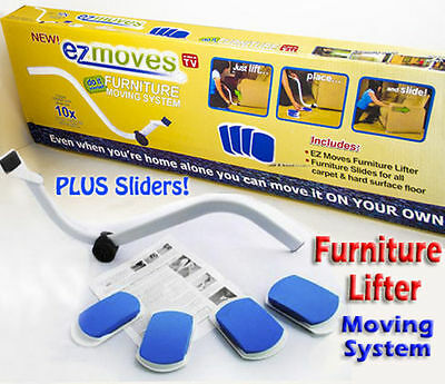 Furniture Lifter Moves with EZ Mover Sliders Kit Home Moving Lifting System SF1