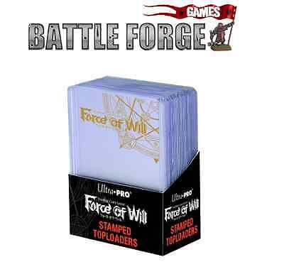 "Ultra Pro Force Of Will Stamped Toploader Holds 2½"" x 3½"" Cards - NEW"