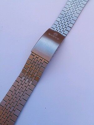 vintage sanyo stainless steel japan watch bracelet for spare