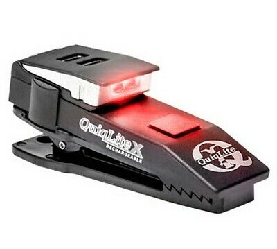 QuiqLite X USB Rechargeable Hands Free Pocket Clip Police Light -Red & White LED