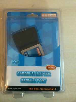 New Cardbus C-191 Adapter Serial 2 Port
