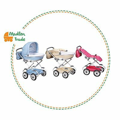 Toy Doll Pram Dayane for dolls Stroller 2in1 with bag and basket Only 5Kg