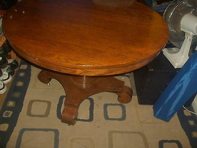 antique  solid oak Empire style round table
