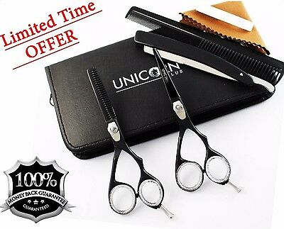 """6"""" Professional Hair Cutting & Thinning Scissors Shears Hairdressing Set + Case"""