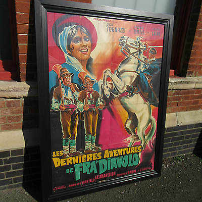 Original vintage french film poster. The latest adventures of Fra Diavolo 1962