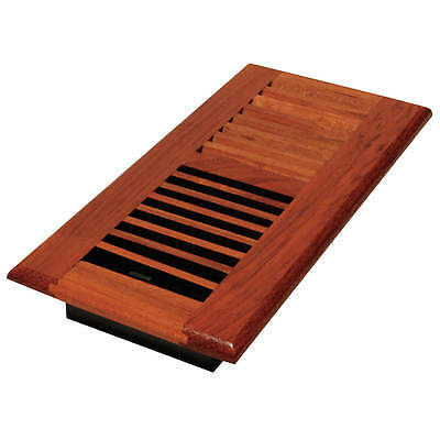 DECOR GRATES 4x10 Louvered Solid Cherry Natural WLC410-N
