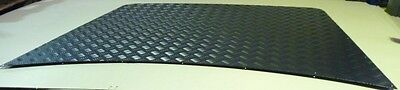 Land Rover Discovery 1 Black Heavy Duty 3Mm Chequer Plate Bonnet Protector
