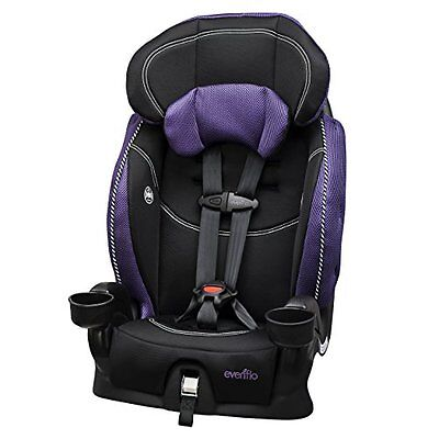 Evenflo Chase LX Harnessed BOOSTER CAR SEAT, 2 in 1 Convertible CAR SEAT, Jasmin