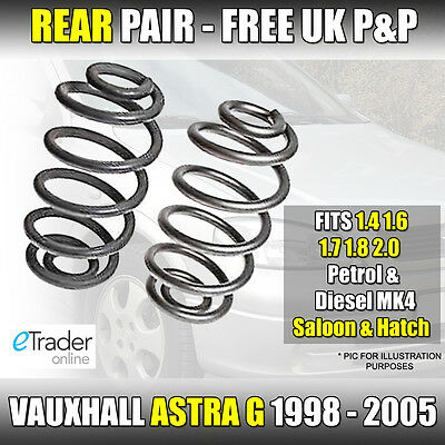 Vauxhall Astra G Hatchback 98-05 Rear Coil Springs Saloon Hatch Pair Spring X 2