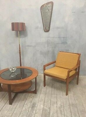 "Danish mid Century teak lounge/easy Arm chair, By Centa ""Denmark"""