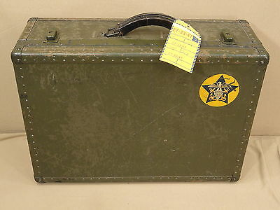 Vtg Wwii Nice Clean Hartmann Us Navy Seapack Luggage Trunk Suit Case Military