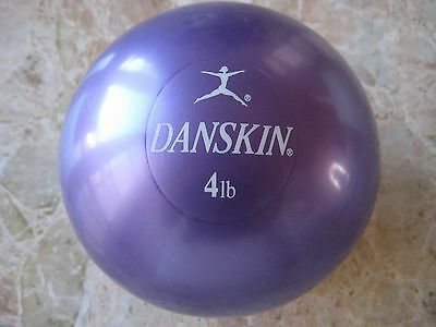"Danskin 4lb Weighted Toning Ball 5"" Mini Soft Exercise Medicine Ball Workout Fit"