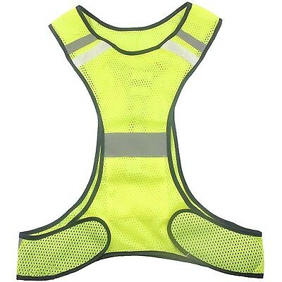 Ueasy High Visibility LED lighting Sets Safety Vest Reflective Running Vest w...