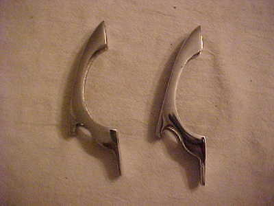 Pair Vintage 1950's New Old Stock / NOS Nickle Man Cave Beer Opener Handles #3