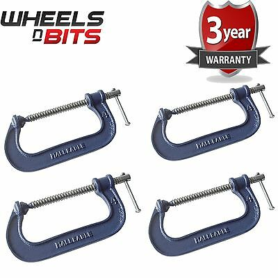 4x Heavy Duty G Clamp 6 Inch 150mm G-Clamps with Copper Screw with Swivel Pad