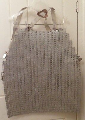 Chainmail Apron 20 Ins Long With Straps Safety Protection