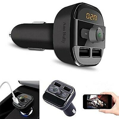 Wireless In-Car Bluetooth Handsfree Car Kit FM Transmitter Radio Adapter and ...