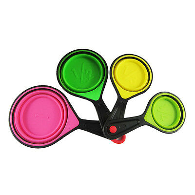 4 Pc/set Silicone Measuring Spoons Cups Kitchen Tools Baking Teaspoon Cooking