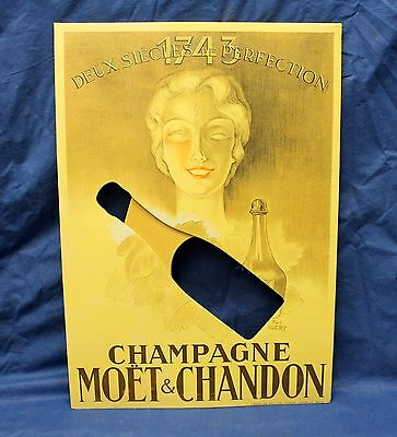 MOET & CHANDON Champagne STORE EASEL BOTTLE DISPLAY Carboard P. IGERT Paris