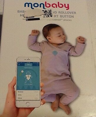 Monbaby Smart Button Baby Breathing And Rollover Monitor In A Smart Button White