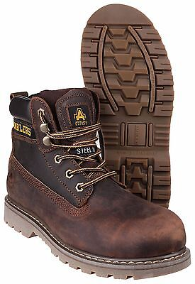 Amblers FS164 Safety Goodyear Welted Steel Toe Cap Mens Brown Work Boots UK4-13