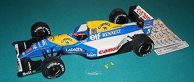 Williams FW-14B Tamiya 1/12 Built For Restoration & Parts With Extra Decals.