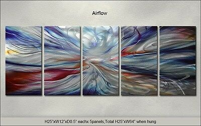 Modern Original Metal Wall Art Abstract Large Indoor-Outdoor Decor by Artist