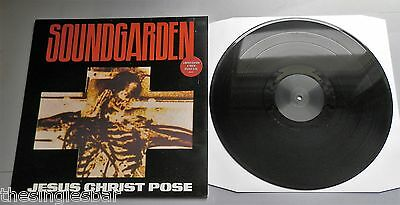 "Soundgarden - Jesus Christ Pose UK 1992 A&M Etched 12"" Die-Cut Cover with Inner"