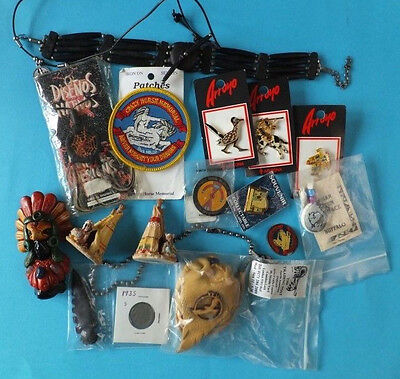 Bulk Bundle of Native American Indians Collectables Pins Old Coin and more.