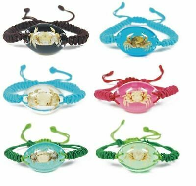 Real Surfers Sea Life Crab Crustacean Bracelet Beach Charm