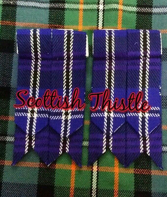 Men's Scottish Kilt Hose Sock Flashes Heritage of Scotland Tartan/Kilt Flashes