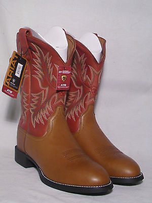 New In Box Brown Ariat Heritage Stockman Mens Western Boot Size 10.5EE (wide)