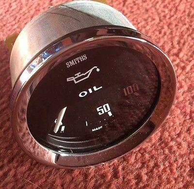 SMITHS OIL PRESSURE GAUGE NEW ELECTRIC 0-100 Psi -TRIUMPH STAG
