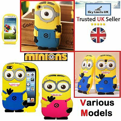 New Despicable me minions back phone case in 3d for him & her - Samsung & iphone