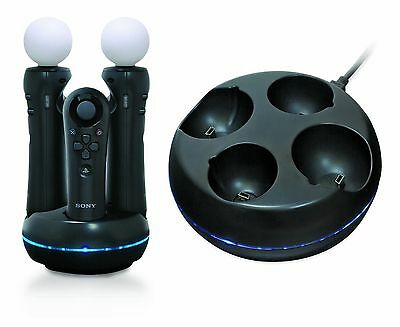 Competition Pro Sony PS3 PS4 PSVR Move Controller Quad Charge Dock Playstation 3