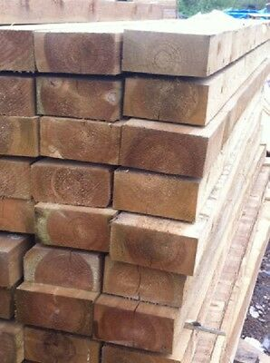 RAILWAY SLEEPERS NEW GREEN/NATURAL LOOK - TANALISED x 1.2mt LENGTH