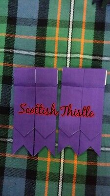 Men's Highland Kilt Flashes Plain Purple Tartan/Scottish Kilt Hose Sock Flashes